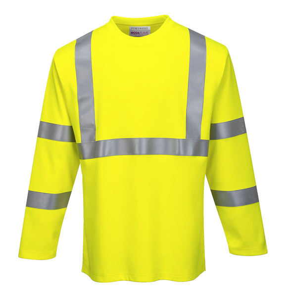 Portwest FR96 FR Class 3 Hi Vis Long Sleeve T Shirt