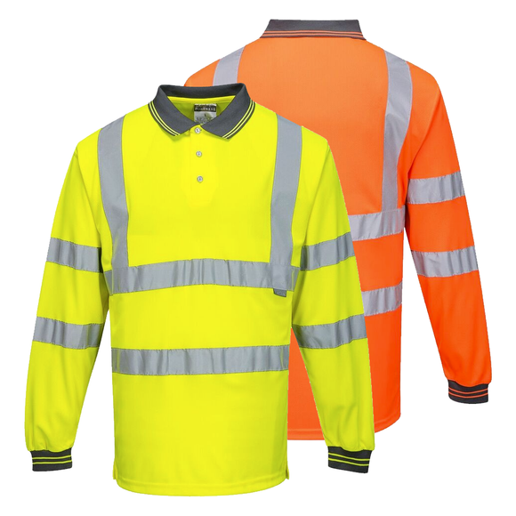 Portwest S277 Hi-Vis Long Sleeved Polo