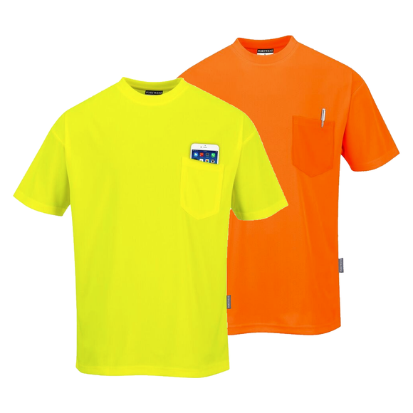 Portwest S578 Non ANSI Short Sleeve Pocket T-Shirt