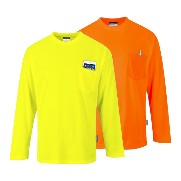 Portwest S579 Non ANSI Long Sleeve Pocket T-Shirt