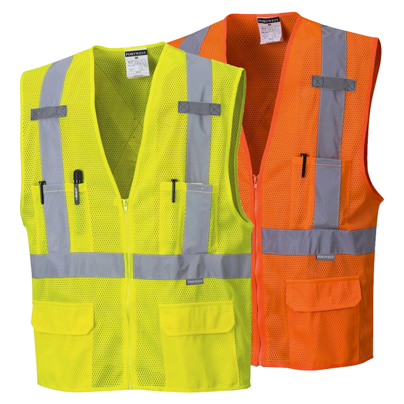 Portwest US370 Atlanta Hi-Vis Safety Vest