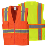 Portwest US372 Jackson Hi-Vis Contrast Safety Vest