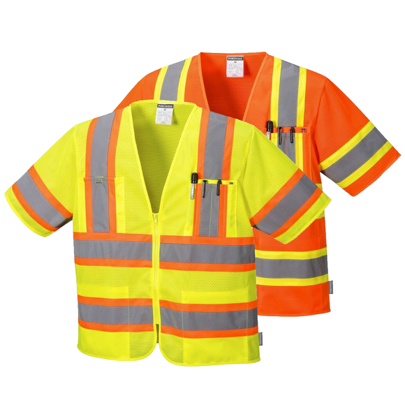 Portwest US383 Augusta Sleeved Hi-Vis Safety Vest