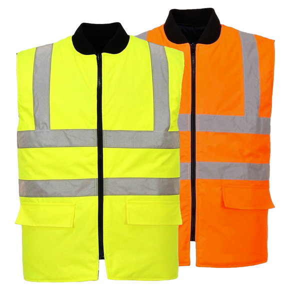 Portwest US469 Hi-Vis Reversible Bodywarmer Vest