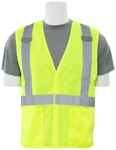 ERB S101X ANSI Class 2 Breakaway Safety Vest with X on Back