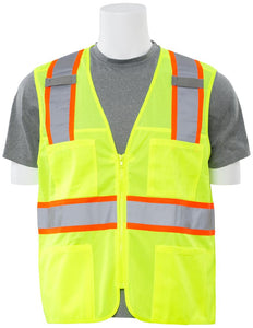 ERB S149 ANSI Class 2 Surveyor Vest with Zipper