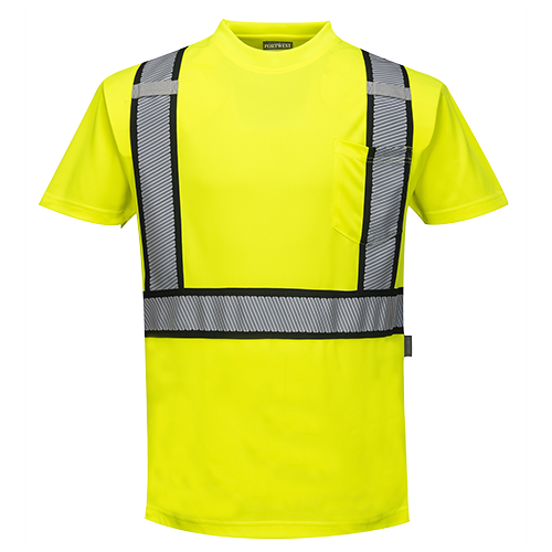 Portwest S395 Detroit Short Sleeved Hi-Vis T-Shirt
