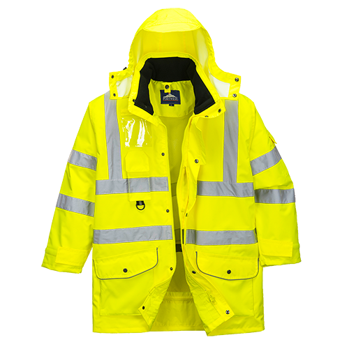 Portwest US427 Hi-Vis 7-in-1 Traffic Jacket