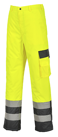 Portwest S686 Hi-Vis Lined Contrast Pants