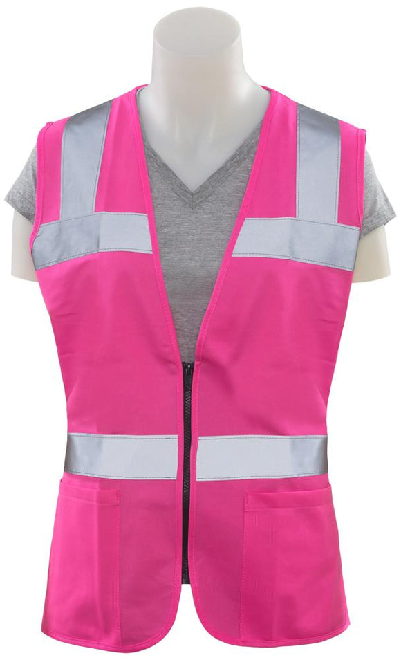ERB S721 Girl Power Pink Women's Fitted Safety Vest