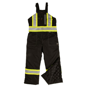 Work King S876 Class E HiVis Black Contrast Waterproof Thermal Overall