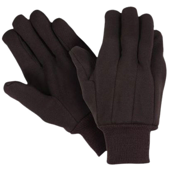 Southern Glove U1052 Heavy Weight Brown Jersey Knit Wrist Gloves