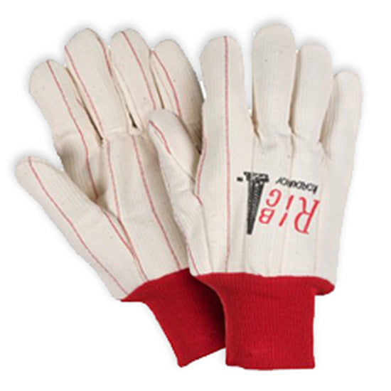 Southern Glove UCHF185 Heavy Weight Polycotton Red Knit Wrist  Gloves