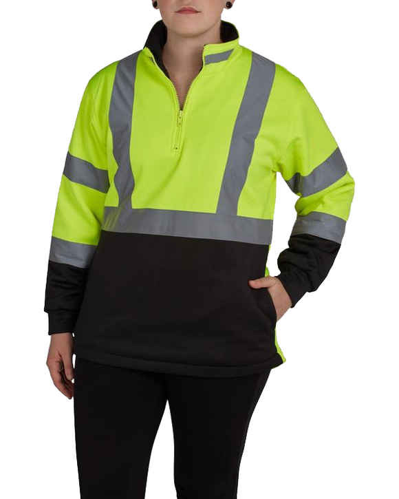 Utility Pro UHV667 Women's Hi Vis 1/4 Zip Soft Shell Jacket