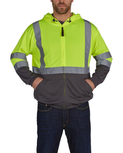 Utility Pro UHV829 Hi Vis Ultra Light Full Zip Hoodie