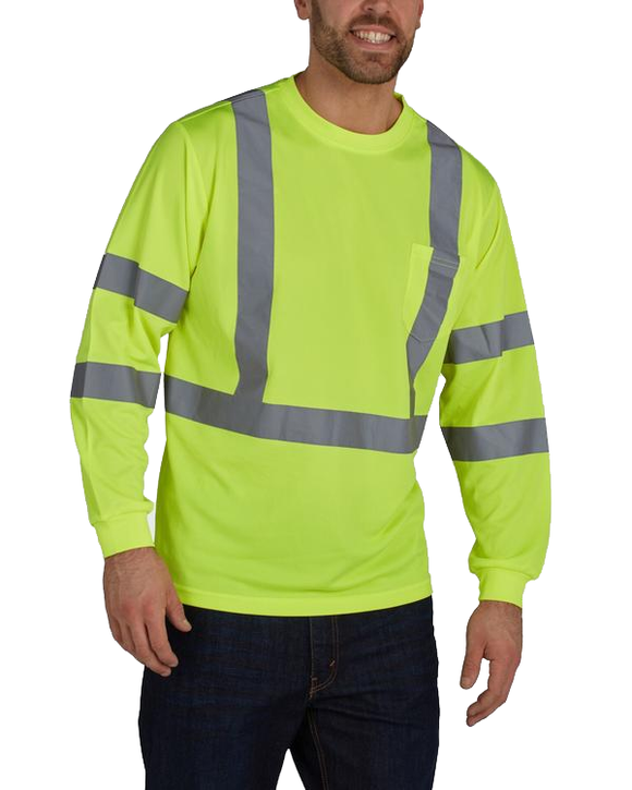 Utility Pro UHV867 Hi Vis Class 3 Long Sleeve T-Shirt with Perimeter Insect Guard