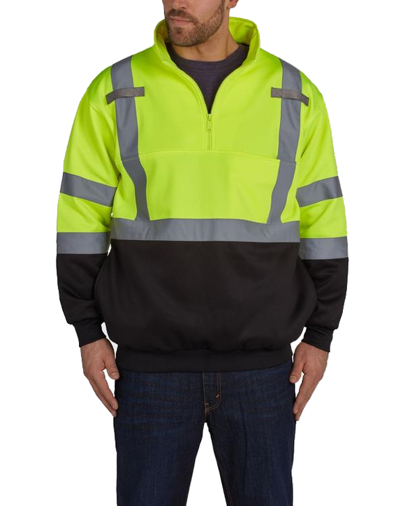 Utility Pro UPA542 High Visibility 1/4 Zip Softshell Jacket