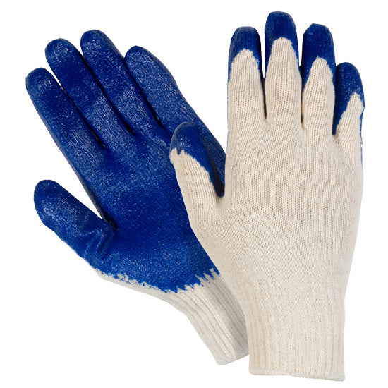Southern Glove WCBLPC Polycotton Knit Latex Palm Coated Gloves
