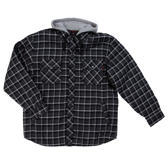 Tough Duck WS06 Quilt Lined Flannel Hooded Shirt