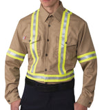 Big Bill 1115US7 Flashtrap Vented FR Shirt with Reflective Material