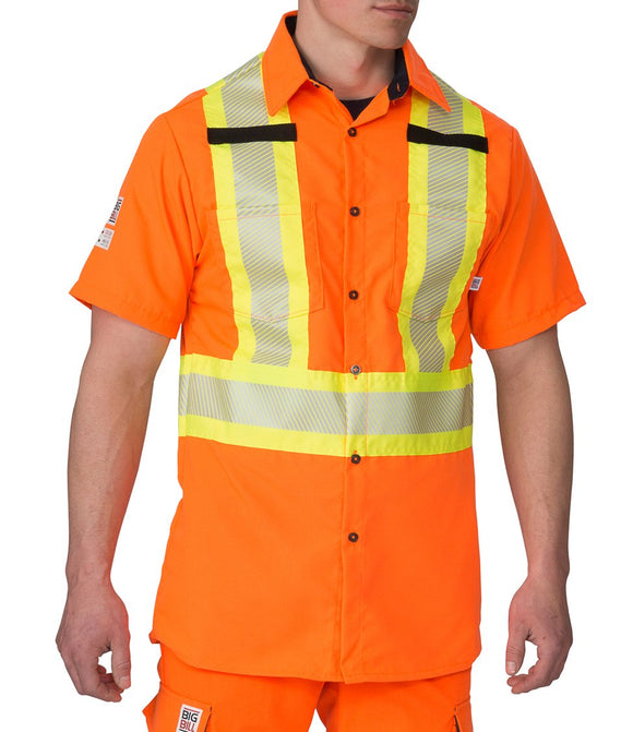 Big Bill 134HVP Hi Vis Class 2 Short Sleeve Shirt