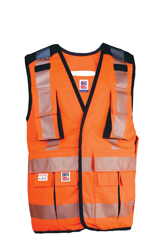 Big Bill 648HVT Hi Vis Class 2 Ripstop Surveyor's Vest