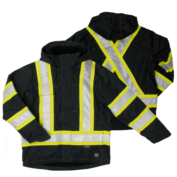 Work King S245 Class 1 HiVis Fleece Lined Jacket