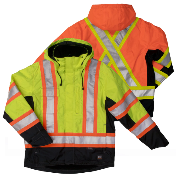 Work King S245 Class 3 HiVis Fleece Lined Jacket