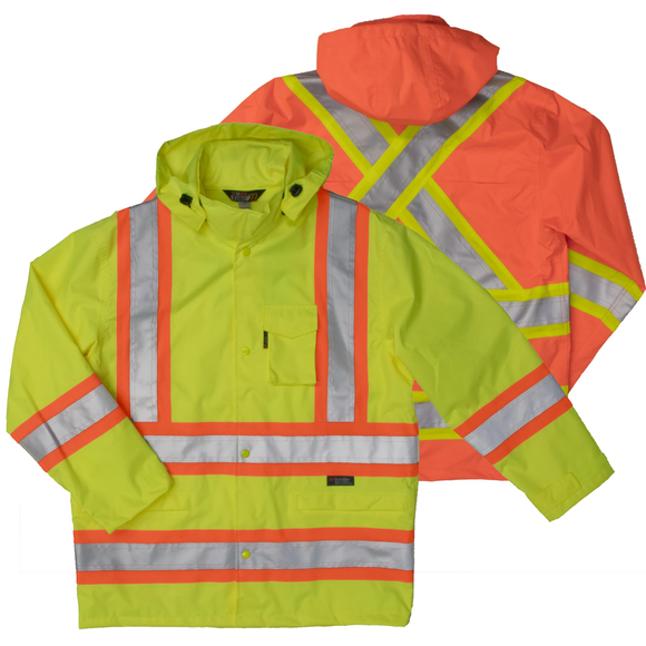 Work King S372 Class 3 HiVis Waterproof Ripstop Rain Jacket