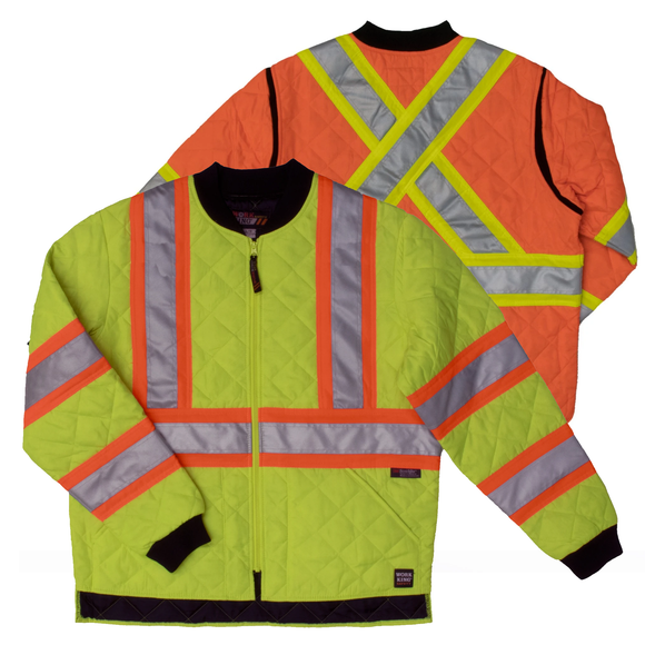 Work King S432 Class 3 HiVis Quilted Jacket