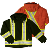 Work King S457 Class 1 HiVis Cotton Duck Jacket