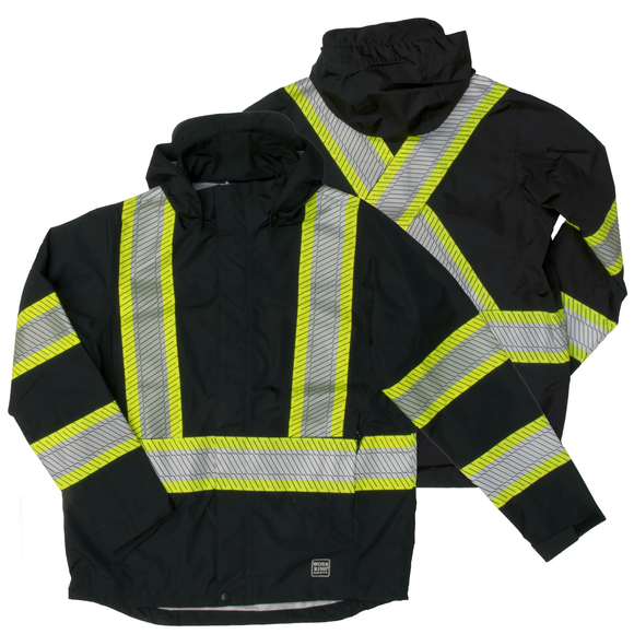 Work King SJ05 Class 1 HiVis Packable Rain Jacket