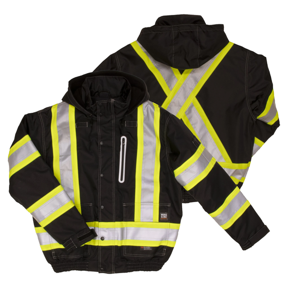 Work King SJ20 Class 1 HiVis Ripstop Bomber Jacket