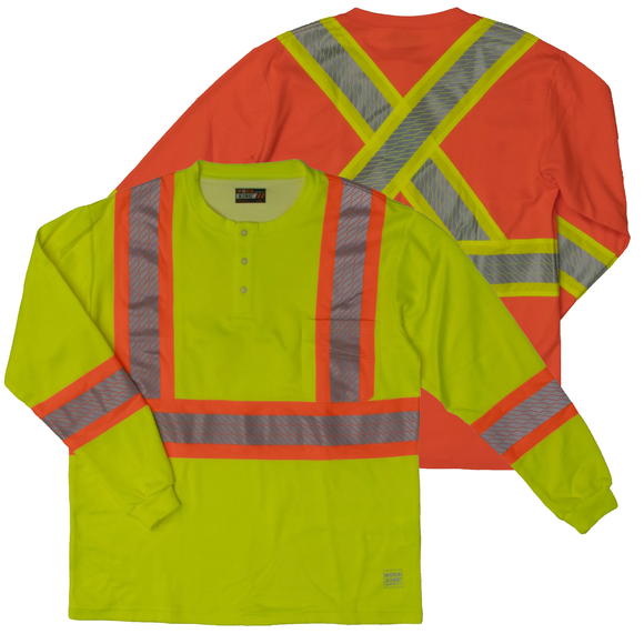 Work King SS01 Class 2 HiVis Henley Shirt