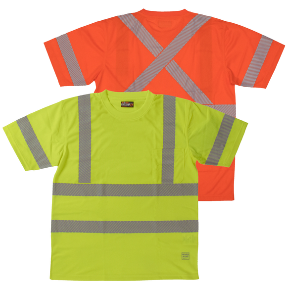Work King ST07 Class 3 HiVis X Back Safety Shirt
