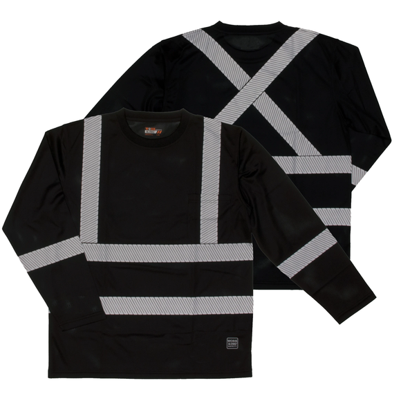Work King ST08 Class 1 HiVis Long Sleeve Safety Shirt
