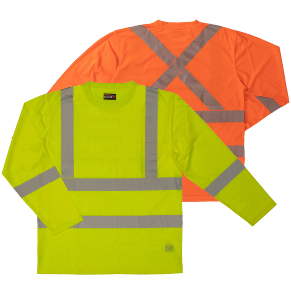 Work King ST08 Class 3 HiVis Long Sleeve Safety Shirt