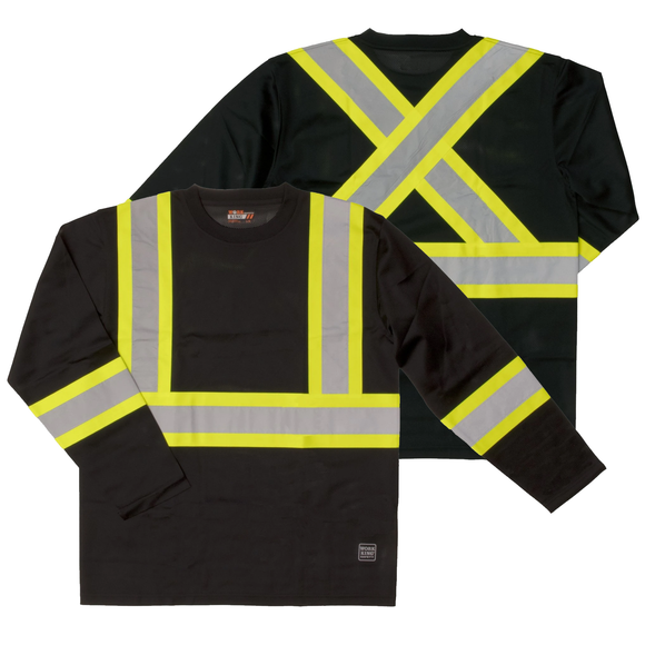 Work King ST10 Class 1 HiVis Long Sleeve Safety Shirt