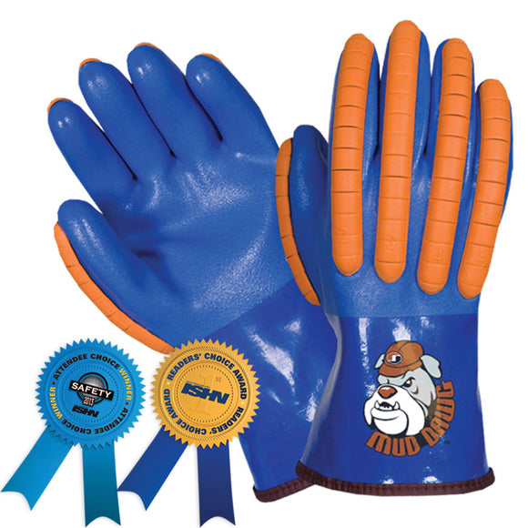 Southern Glove SXP0020B Mud Dawg PVC Coated Summer Lined Impact Gloves