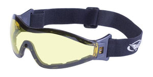 Global Vision Z-33 YT A/F Anti-Fog Goggles with Yellow Tint Lenses