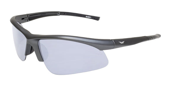 Global Vision Ambassador Metallic Safety Glasses with Clear Lenses, Charcoal Frames