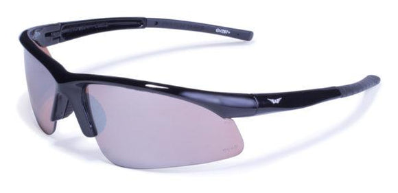 Global Vision Ambassador Safety Glasses with Driving Mirror Lenses, Gloss Black Frames