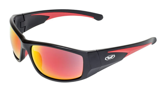Global Vision Bolt G-Tech Red Safety Sunglasses with G-Tech Red Lenses, Matte Black Frames