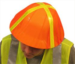 ERB S291 Hi Viz Orange Hard Hat Cover, Pack of 3