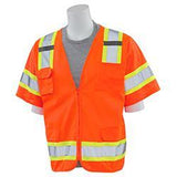 ERB S680 ANSI Class 3 Surveyors Safety Vest, Orange