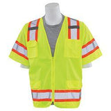 ERB S680 ANSI Class 3 Surveyors Safety Vest, Lime