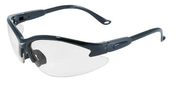 Global Vision Cougar 24 Safety Sunglasses with Clear Photochromic Lenses, Gloss Black Frames