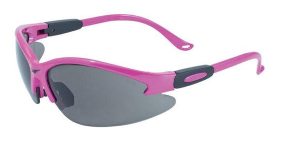 Cougar Pink Safety Glasses with Smoke Lenses, Gloss Pink Frames