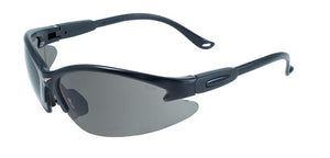 Cougar Safety Glasses with Smoke Lenses, Black Frames