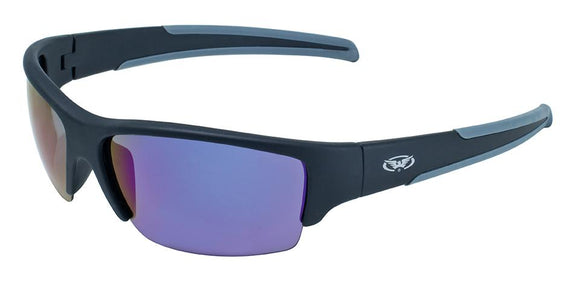 Global Vision Daydream 2 GT Safety Glasses with G-Tech Blue Lenses, Matte Black Frames